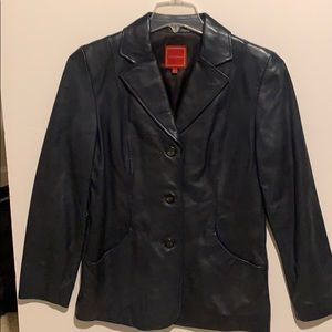 Vintage Cole Haan leather blazer